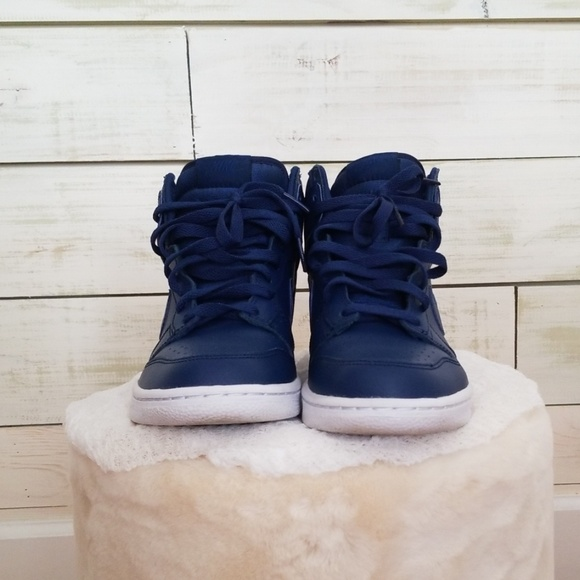 Nike Other - Nike Dunk High Tops Navy Blue